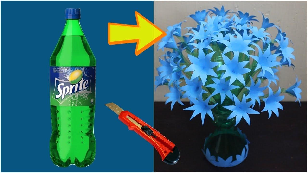 Kerajinan Tangan Bunga Dari Botol Plastik Bekas Mudah Simple Youtube