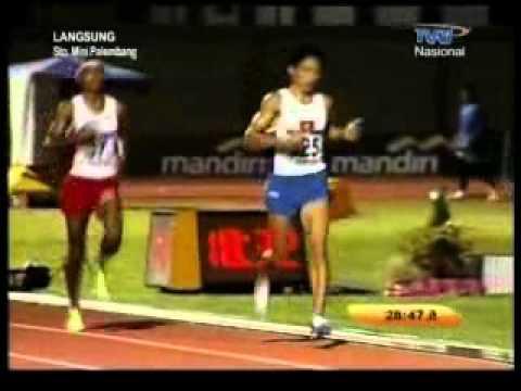 Lari 10.000 meter. Agus Prayogo - Sea Games XXVI