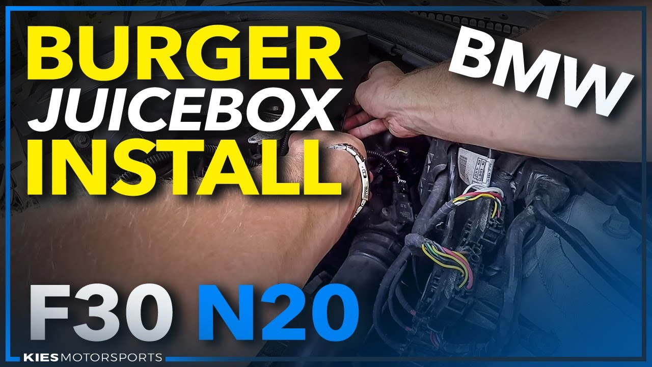 Burger Juice Box Stage One Installation F30 N20 BMW - YouTube