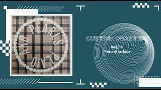 Custom Photo Coasters on Tile - DIY