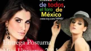Entrega Postuma Miss Universo 2011 Parte 2 / 5