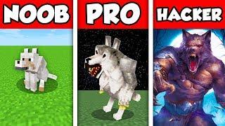 Minecraft NOOB vs PRO vs HACKER : MUTANT WEREWOLF CHALLENGE in Minecraft Animation!