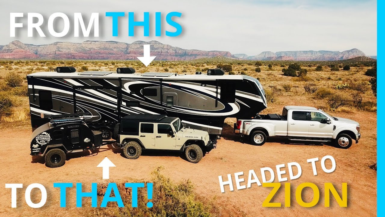 Download ZION: First Trip with the New Teardrop Trailer & Jeep Rubicon