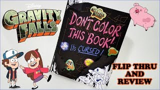 Gravity Falls Coloring Book Flip Thru and Review - DON'T COLOR THIS BOOK!