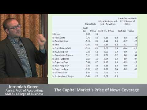 The Capital Market's Price of News Coverage