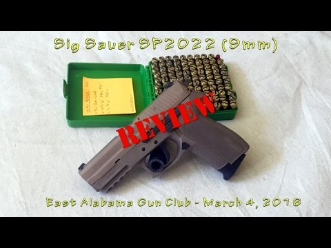 Sig Sauer SP2022 Review - March 4, 2016