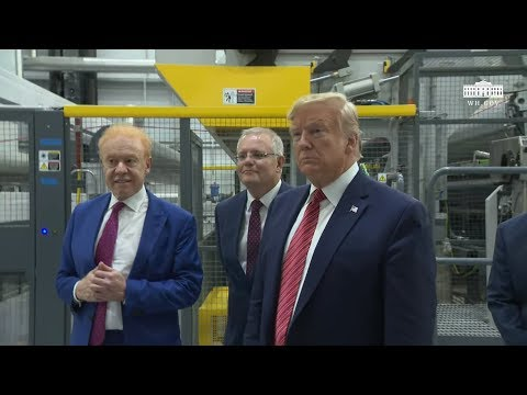 President Trump Tour of Pratt Industries Plant Opening
