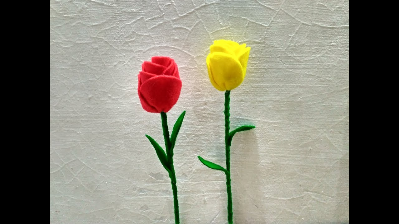 Cara Membuat Bunga Tulip Dari Kain Flanel  YouTube