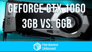 3gb vs 6gb gtx 1060 benchmark comparison