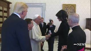 Melania Trump has rosary blessed by Pope Francis after they joke