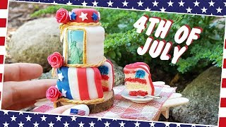 4th of July cake - American Independence Day/MINI CAKE/Jenny's mini cooking/real cake