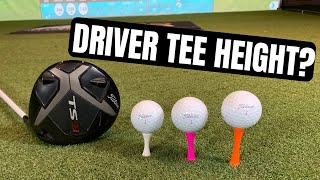 HIT LONGER DRIVES BY USING THE CORRECT TEE HEIGHT FOR YOU