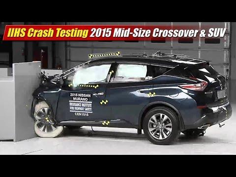 IIHS Crash Testing: 2015 Mid-Size Crossover & SUV