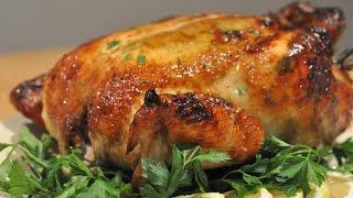 Очень вкусная курица запеченная в духовке целиком roasted chicken