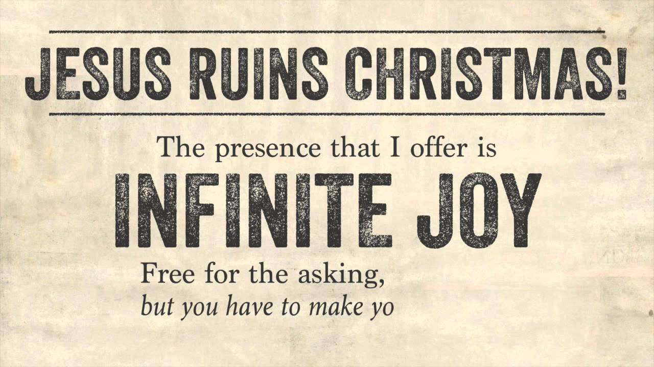 Jesus Ruins Christmas! (David Wilcox) - YouTube