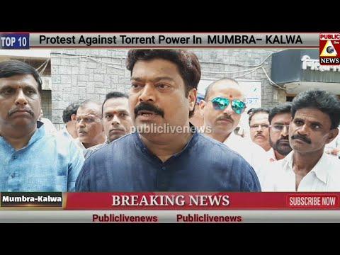 Protest Against Torrent Power In  MUMBRA- KALWA