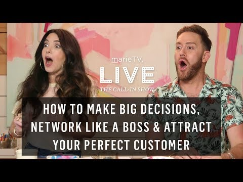 Stop Overthinking! How to Make Big Decisions & Start Following Through | MarieTV Live Call-In Show