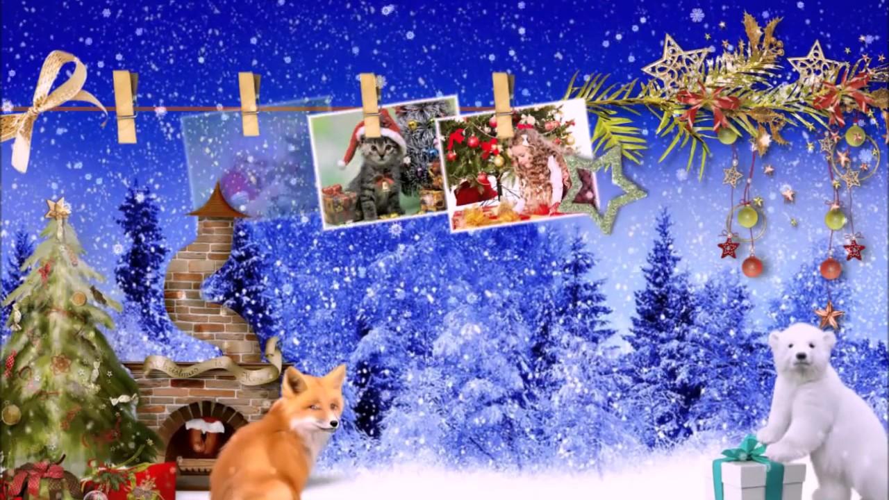 шоу из слайд картинок новогодний