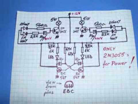 Flip-flop. Power-zone with 2N3055 ! Circuit diagram ! NEW Bias ...