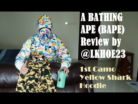 Bathing Ape BAPE 1st Camo Yellow Shark Hoodie Unboxing, Review & Legit Check Guide!