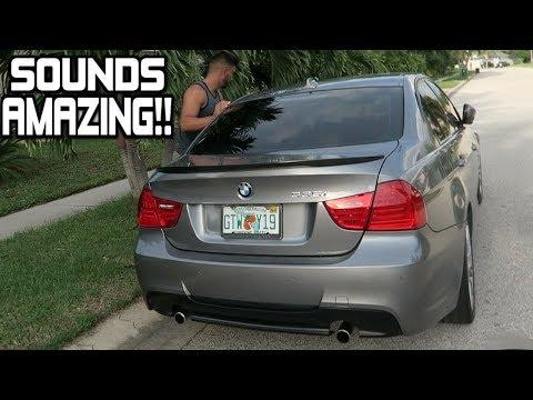 Best Sounding BMW 335i Exhaust! E90 N55 (Muffler Delete)