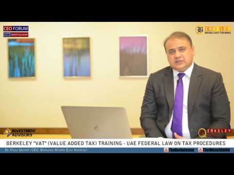 VAT Training | UAE Federal Law on Tax Procedures