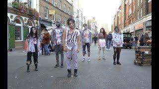 Terrifying Zombie Flash Mob in London's Hatton Garden!