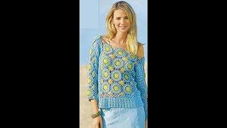 Вязание Крючком - Ажурные Кофточки - видео-модели 2019 / Knitting Crochet Lace Blouse Video