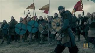 Vikings S04E18 - Vikings attacking Aelle's army