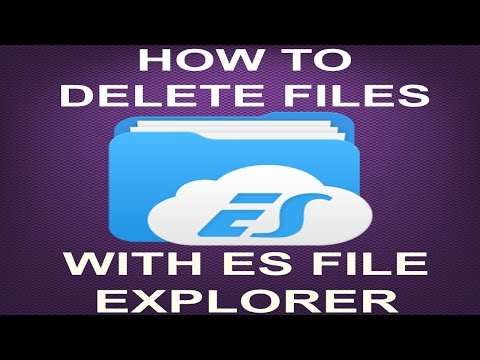 HOW TO DELETE FILES IN ES FILE MANAGER (JD)....
