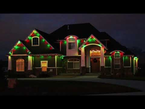Permanent LED Christmas House Lights - Exterior Color Changing Holiday Lighting