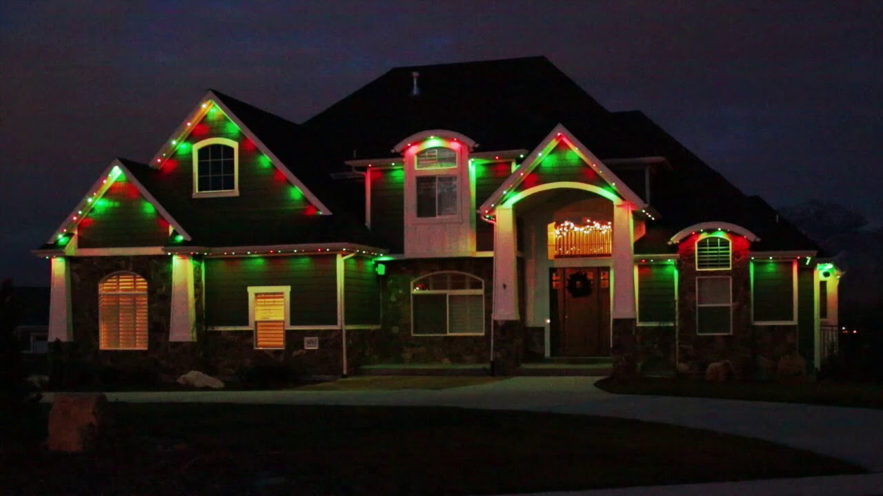 Permanent Christmas Lights.Permanent Led Christmas House Lights Exterior Color Changing Holiday Lighting