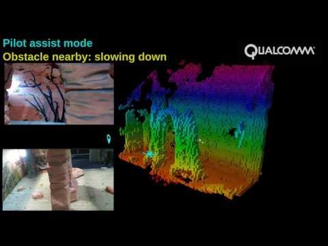 Autonomous vision-based drone navigation demo