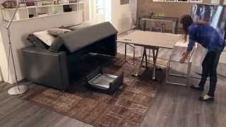 Divano trasformabile Four Seasons by Ozzio - transformable sofa, italian space saving furniture