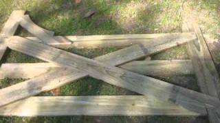 How To Make A 14ft Wood Gate Part 6
