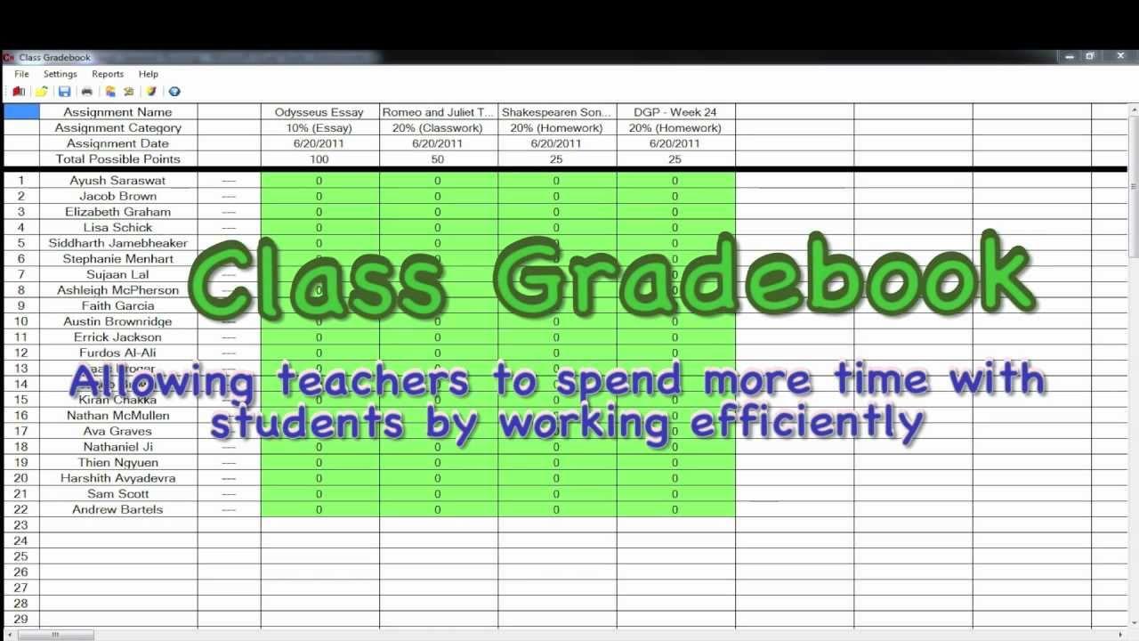 Class Gradebook - YouTube