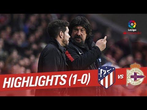 Resumen de Atlético de Madrid vs RC Deportivo (1-0)