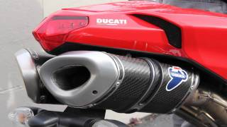 Termignoni exhaust system on DUCATI Superbike (5.1 Surround HD sound)