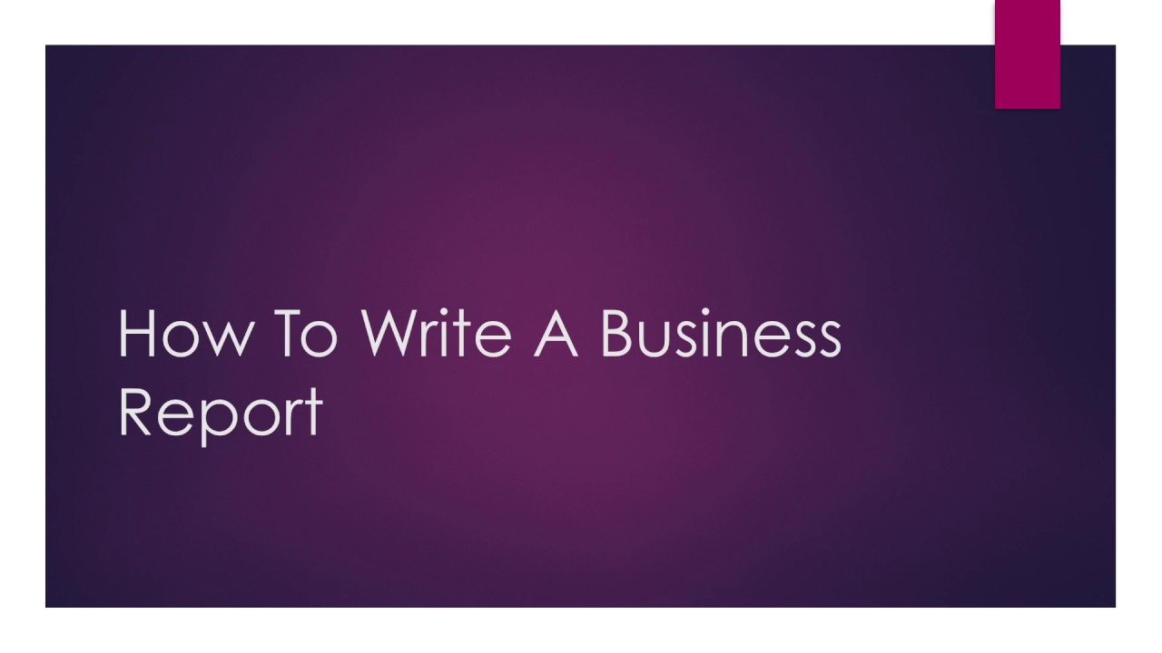 how to write recommendations in a business report