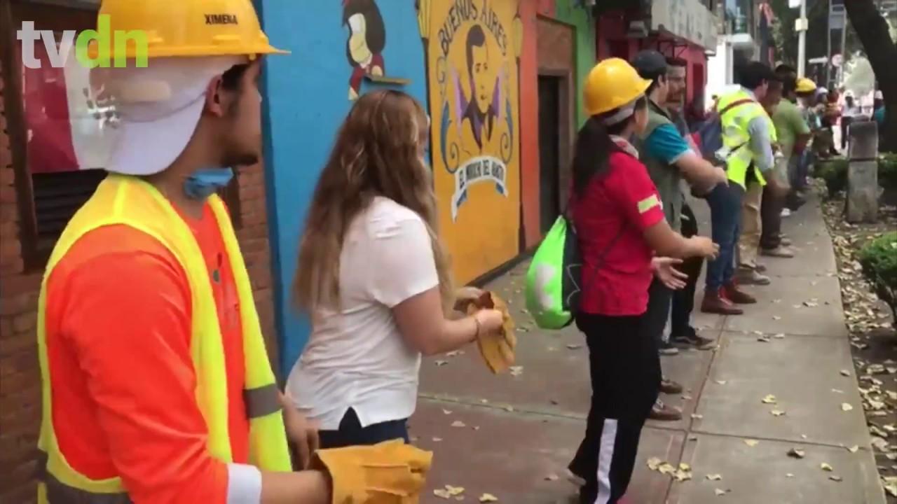 Mexicanos se organizam nas ruas para resgatar vidas e a cidade após terremoto