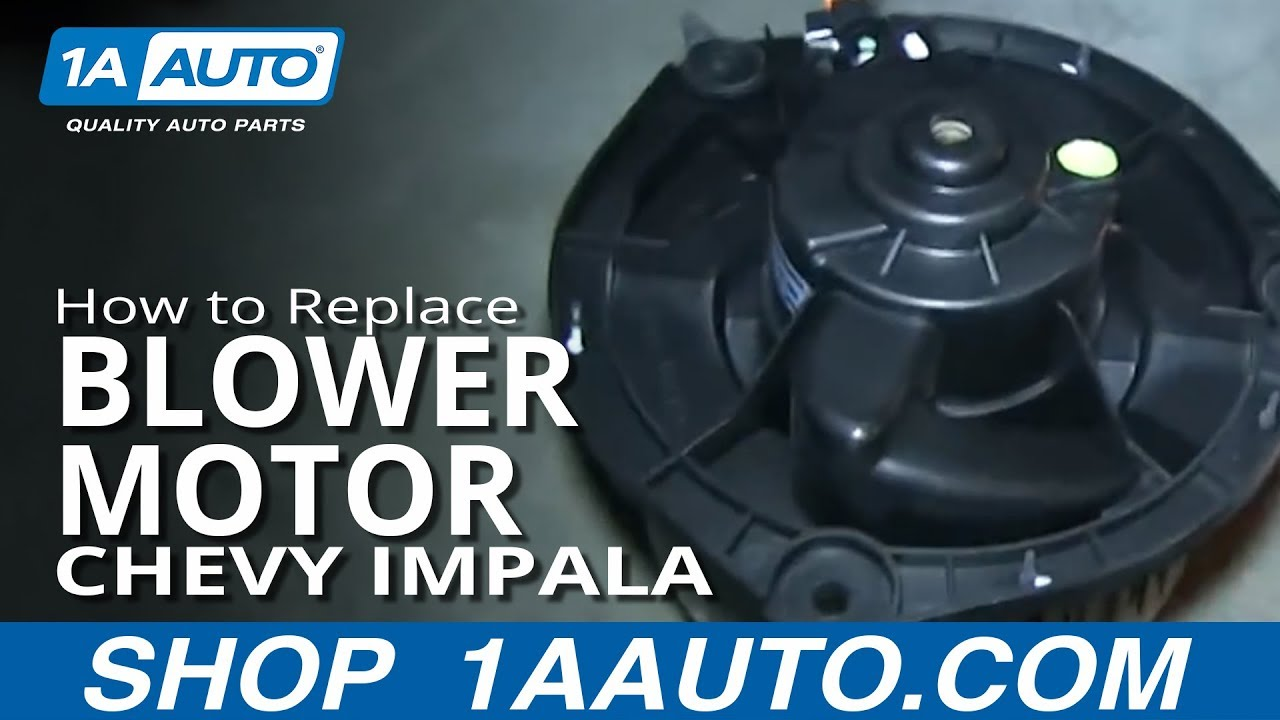 How To Install Replace Heater Ac Er Fan Motor 2006 12 Chevy Impala