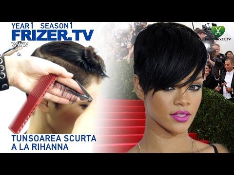 TUNSOAREA SCURTA A LA RIHANNA. Rihanna haircut FRIZER TV