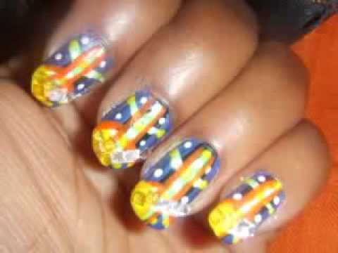 African Tribal Nail Art Design