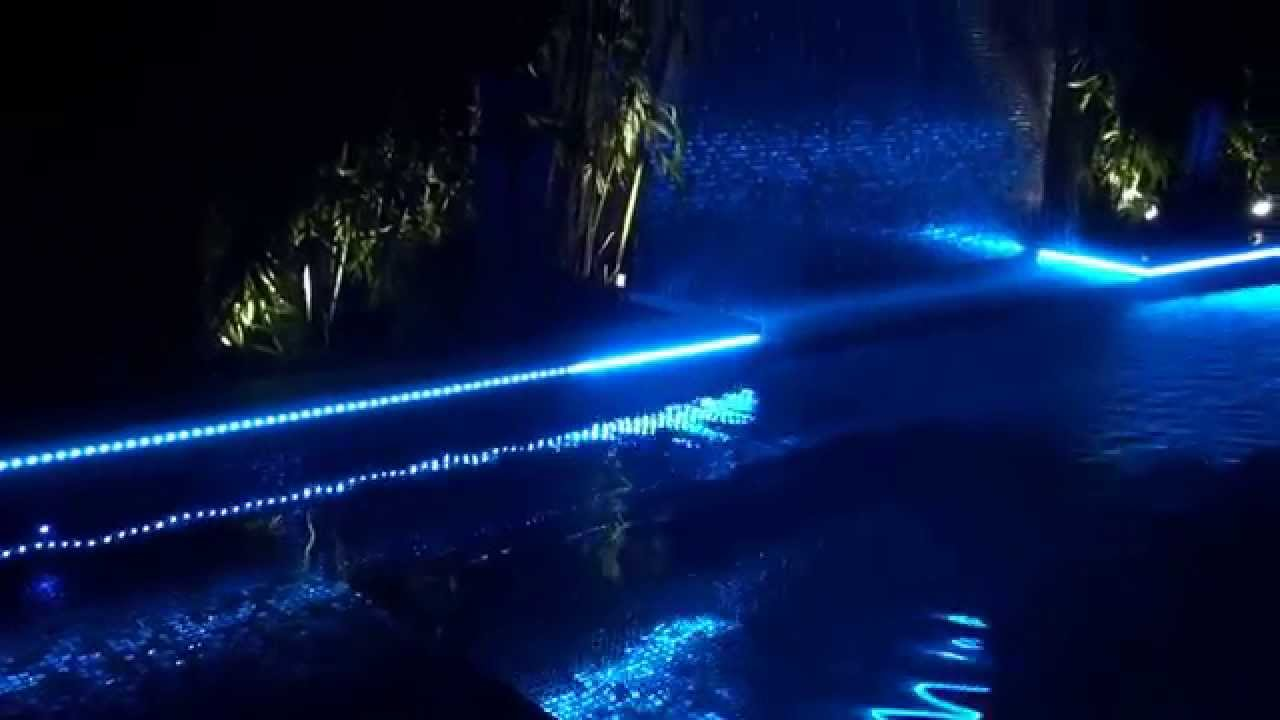 Swimming Pool Perimeter Strip Lighting Youtube