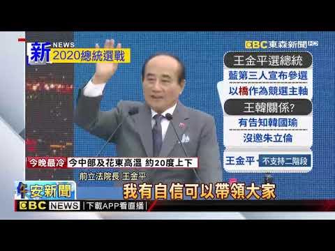 最新》「因緣到了」 王金平宣布參選2020總統