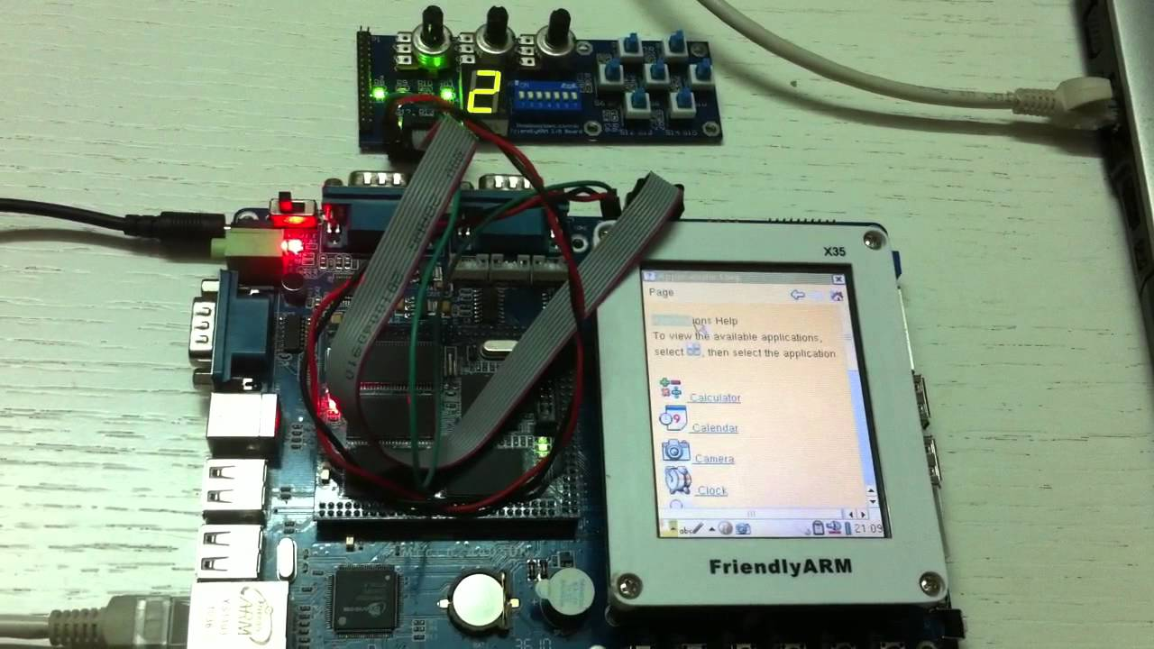 Micro2440: Control led 7seg from linux userspace via gpio sysfs interface