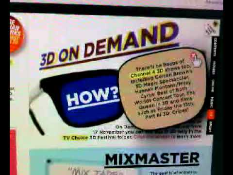 Virgin Media TV UK 3D colour-code On-Demand service start 17th Nov 2009 larger version