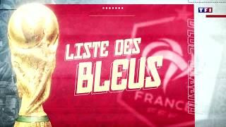 Liste des 23 joueurs Français retenus par Didier Deschamps pour la coupe du monde 2018 en Russie.