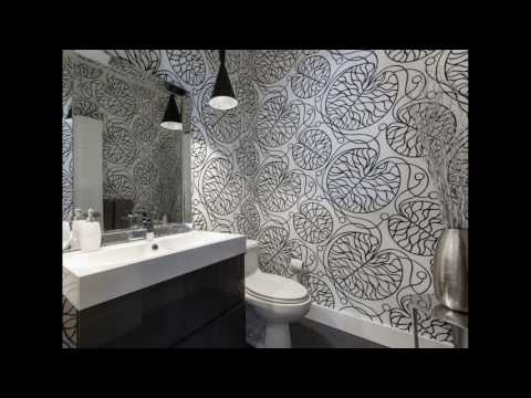 Modern bathroom wallpaper design