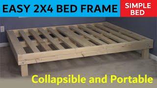 2x4 Queen Bed  Cheap, Easy, Portable